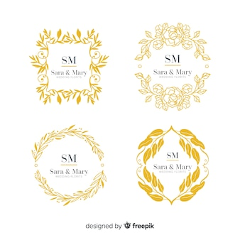 Collection of monogram wedding logos