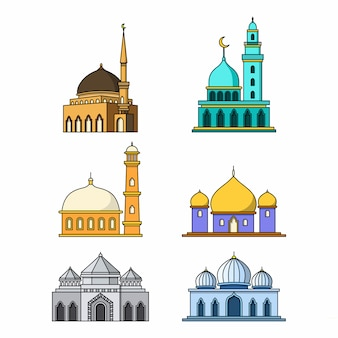 Collection of mosque building designs