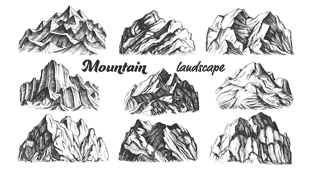 Collection mountain landscape