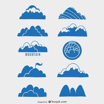 Raccolta di montagne etichette
