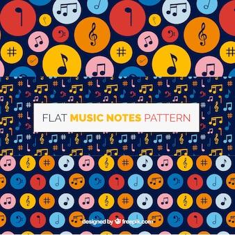 Raccolta di note musicali con cerchi colorati