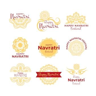 Collection ofnavratri labels