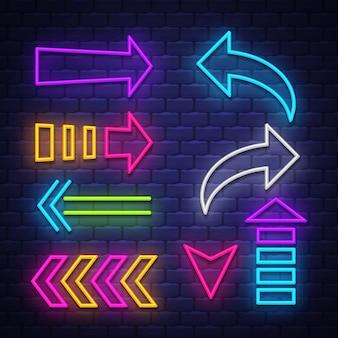 Collection neon arrows