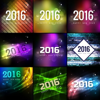 Collection of new year 2016 backgrounds