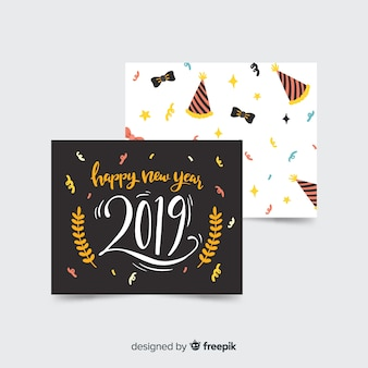 Collection of new year 2019 cards
