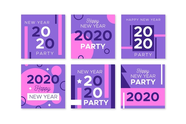 Collection of new year 2020 party instagram post