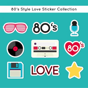 Collection of nice eighties stickers
