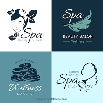 Collection of nice logos for spa