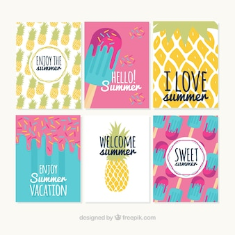 Collection of nice summer cards