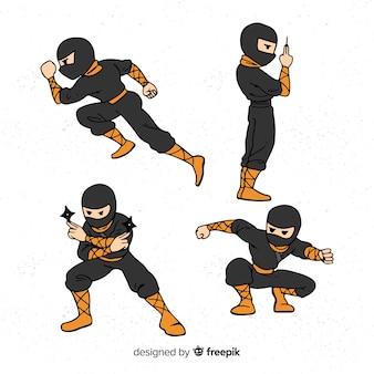Collection of ninja characters