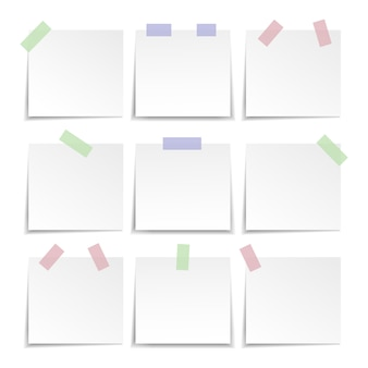 Collection of note paper, sticky note.illustration