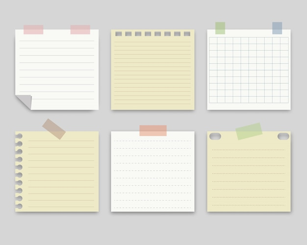 Collection of note paper.vector illustration.