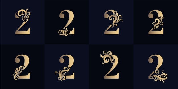 Collection number 2 logo with luxury ornament design