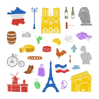 Collection of objects of france