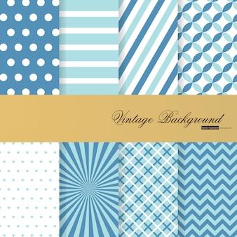 빈티지 스타일의 8 파란색 배경 모음