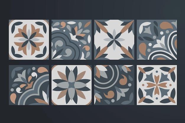 Коллекция из 8 керамических плиток