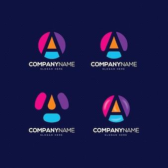 Коллекция концепции логотипа письмо