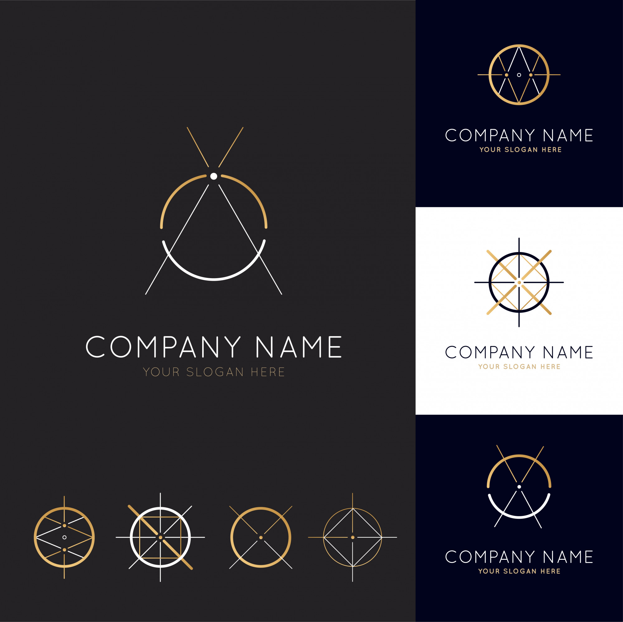 Collection of abstract architecture logos