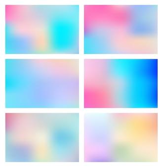 抽象的な明るいグラデーションのぼやけた色のコレクション
