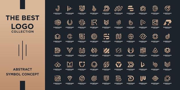 회사의 추상 초기 az 로고 템플릿 브랜딩 컬렉션입니다.