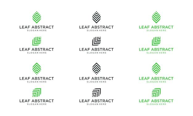 Коллекция абстрактных форм листьев. премиум векторы.