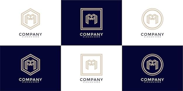 抽象的な文字mロゴデザインのコレクション