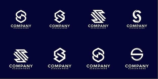 추상적 인 편지의 로고 디자인 컬렉션
