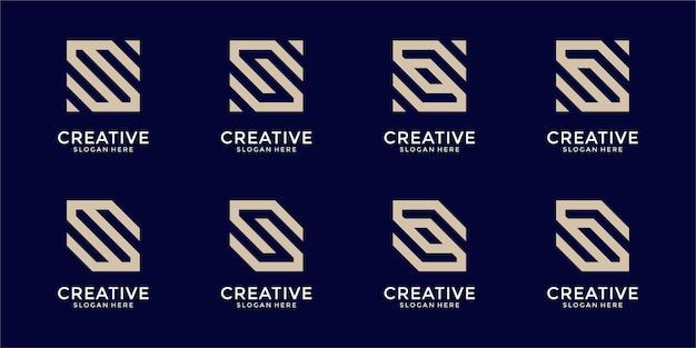 抽象的な文字のロゴデザインのコレクション