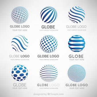 抽象的な近代的なロゴのコレクション
