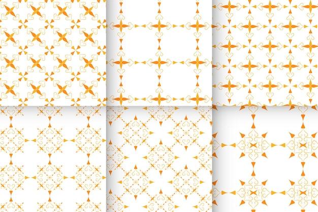 抽象的なオレンジ色のパターンのコレクション