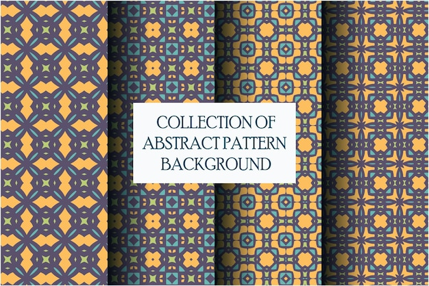 Коллекция абстрактного узора с мотивом стиля