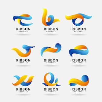 Коллекция абстрактных ленты логотипа