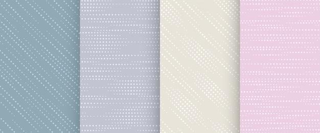パステルカラーの抽象的なシームレスパターンのコレクション。