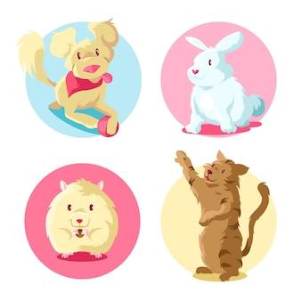 사랑스러운 애완 동물의 컬렉션