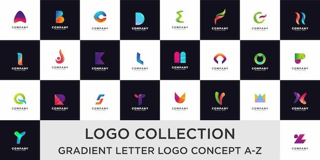 Коллекция шаблонов дизайна логотипа письмо алфавит