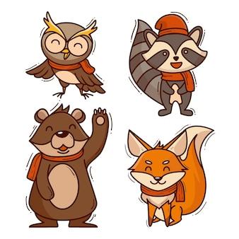 가을 동물 컬렉션