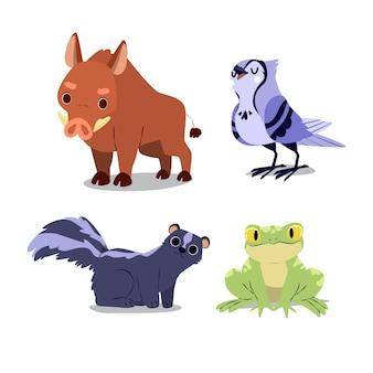 가 숲 동물의 컬렉션
