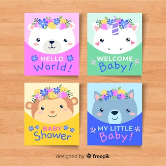 Collection of baby shower cards