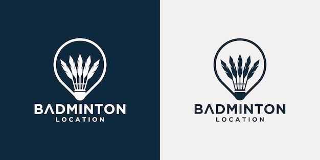 Коллекция шаблонов логотипов для бадминтона
