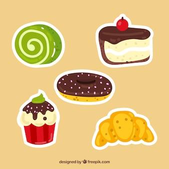 2d 스타일의 빵집 스티커 컬렉션
