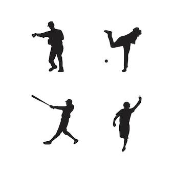 야구 선수 실루엣의 컬렉션