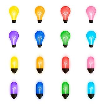 Коллекция красивых лампочек, новогодняя гирлянда