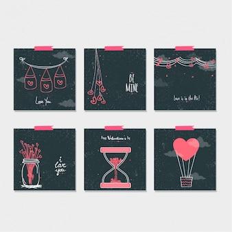 Коллекция красивых нот на день святого валентина