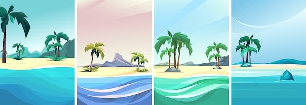 세로 방향으로 아름다운 바다의 컬렉션