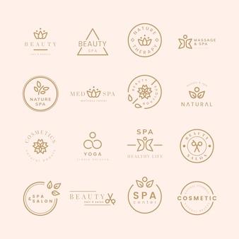 美容とスパのロゴのコレクション