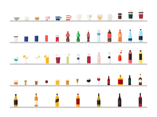 음료 벡터의 컬렉션