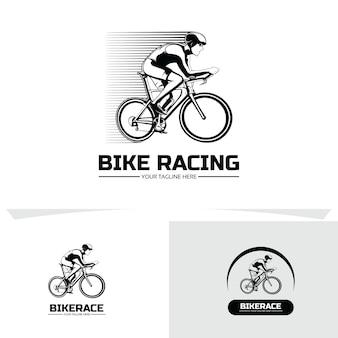 自転車レース競争ロゴデザインテンプレート集