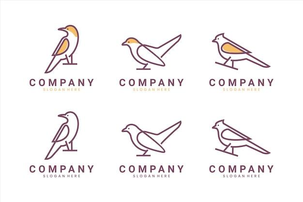 Коллекция птиц, вдохновение для дизайна логотипа