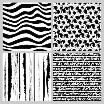 완벽 한 패턴의 흑백 기하학 컬렉션