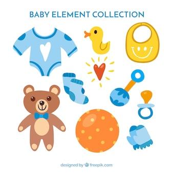 青い赤ちゃんの要素のコレクション